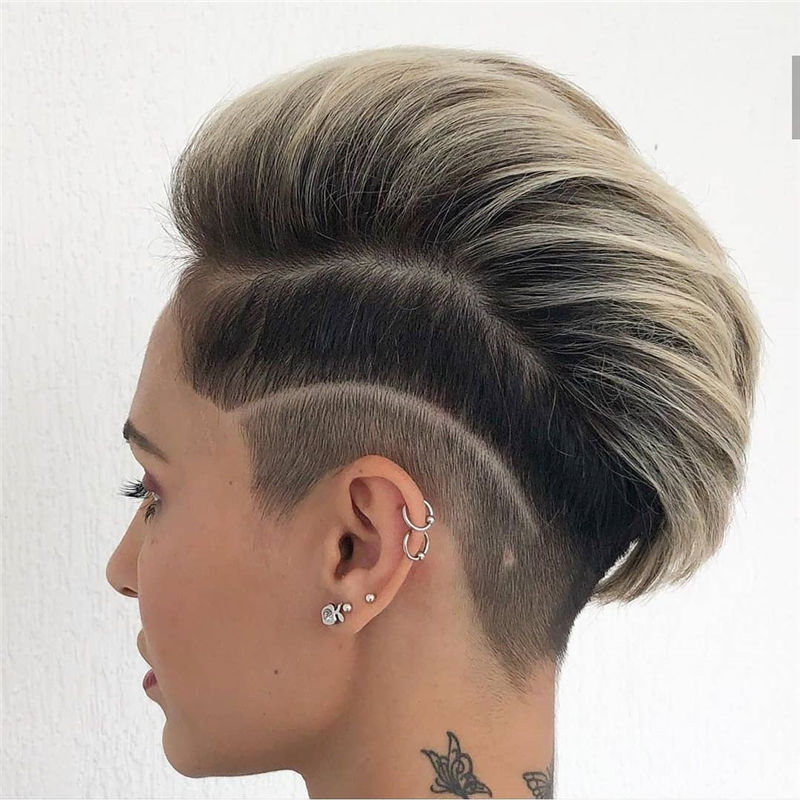 Popular Short Pixie Cut Hairstyles with Casual and Prom Looks-31