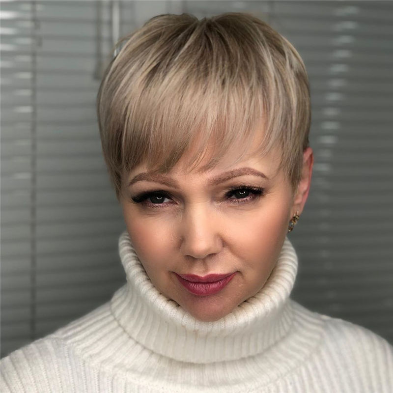 Popular Short Pixie Cut Hairstyles with Casual and Prom Looks-36