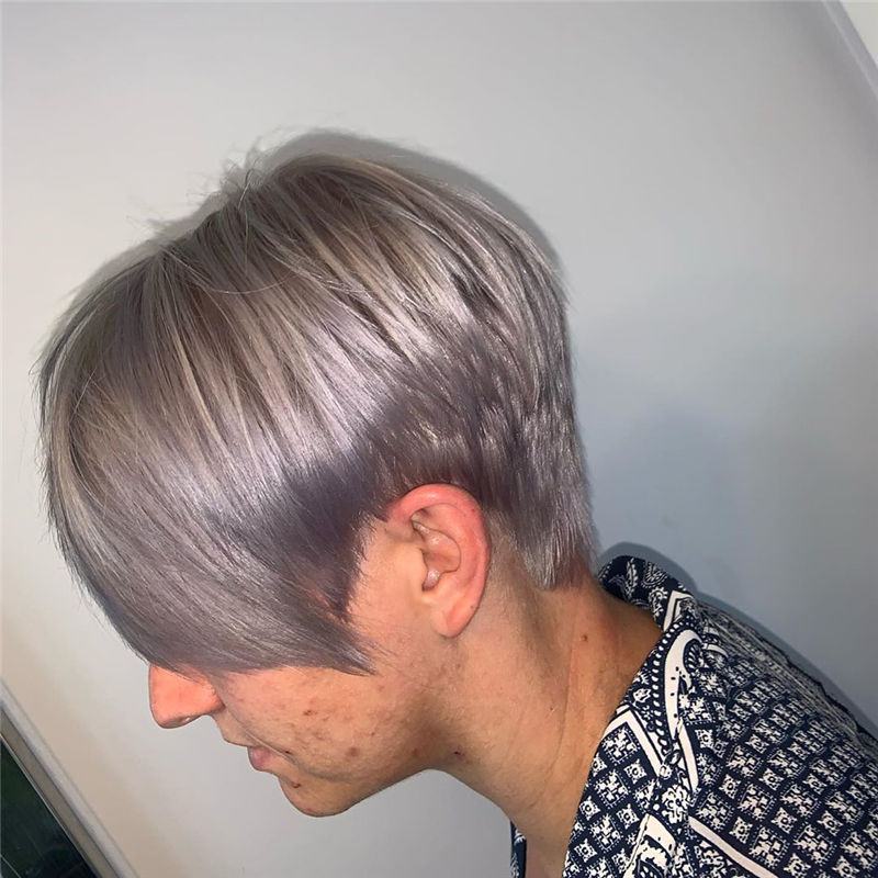 Short Grey Haircuts to Inspire Your Prom Look-01