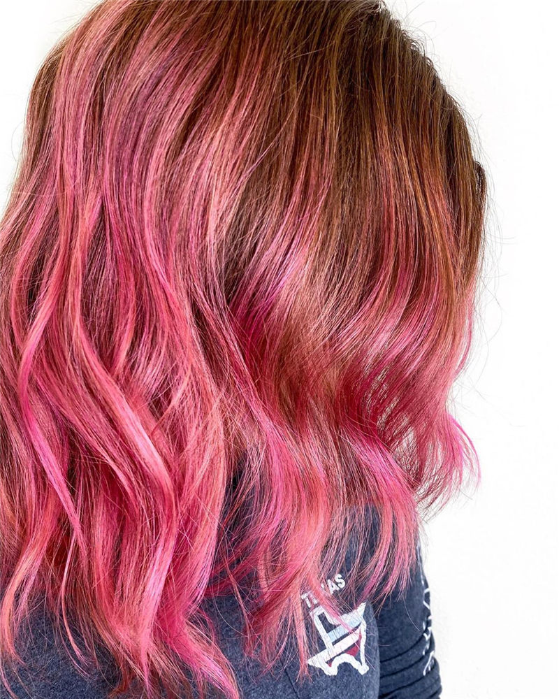 Cute Pink Hair Ideas That You'll Want To Get-03