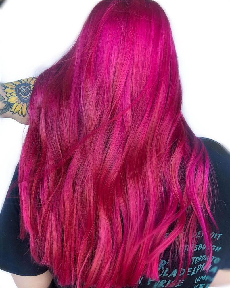 Cute Pink Hair Ideas That You'll Want To Get-05