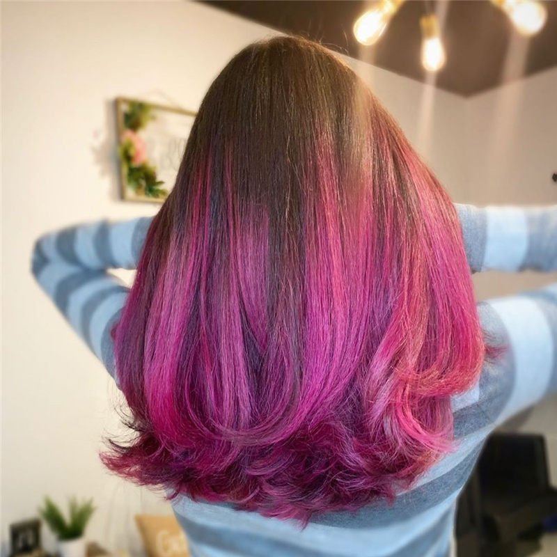 Cute Pink Hair Ideas That You'll Want To Get-24