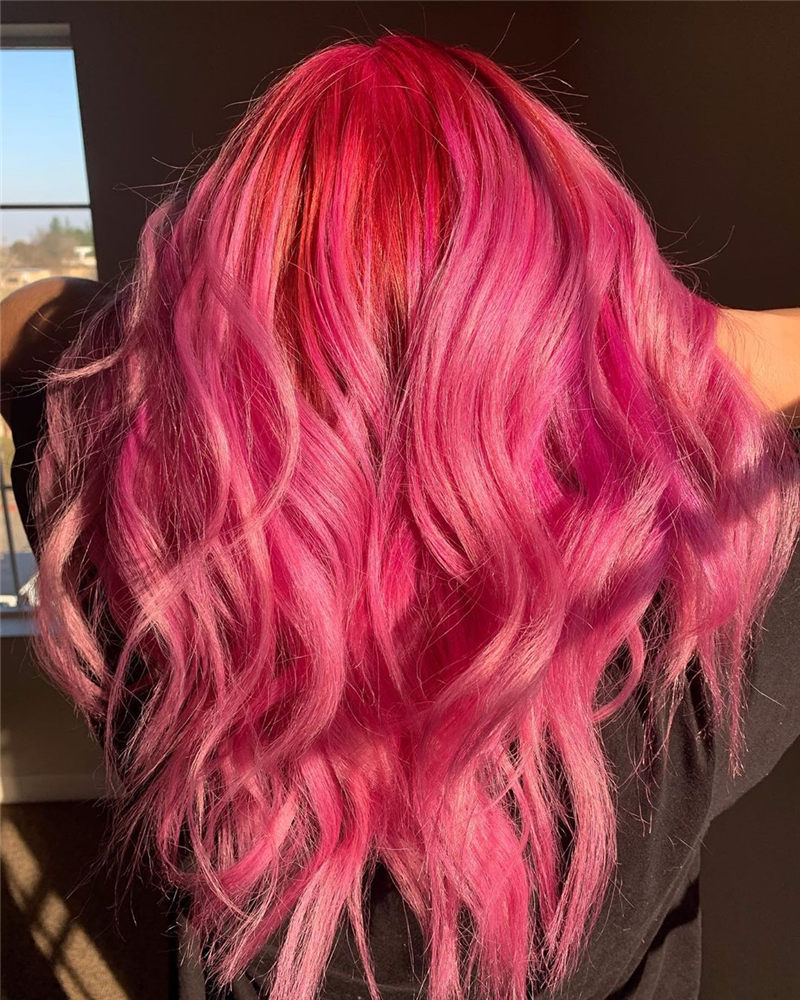 Cute Pink Hair Ideas That You'll Want To Get-27