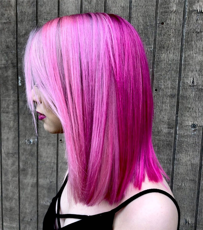 Cute Pink Hair Ideas That You'll Want To Get-44