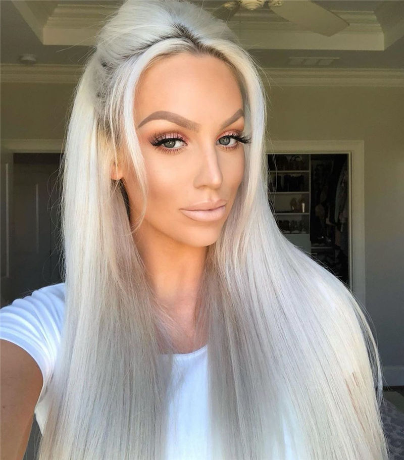 Great White Platinum Blonde Hairstyles You Will Love 01
