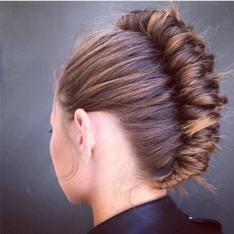 Popular Updo Braided Hairstyles to Look Stylish-03