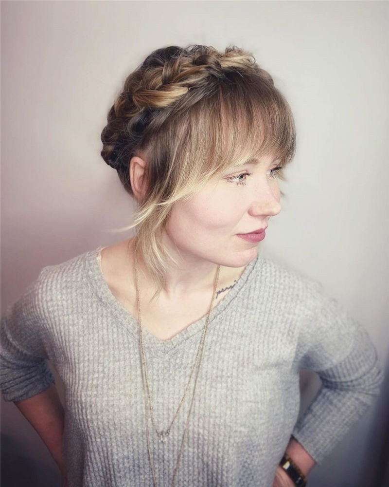 Popular Updo Braided Hairstyles to Look Stylish-07