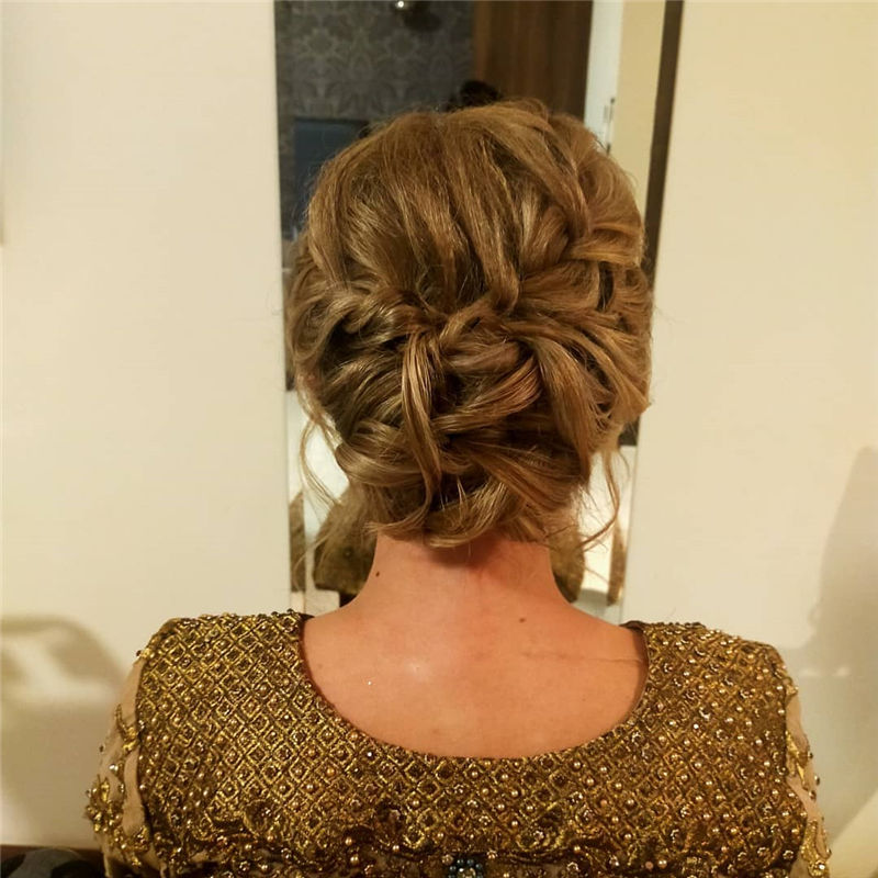 Popular Updo Braided Hairstyles to Look Stylish-12