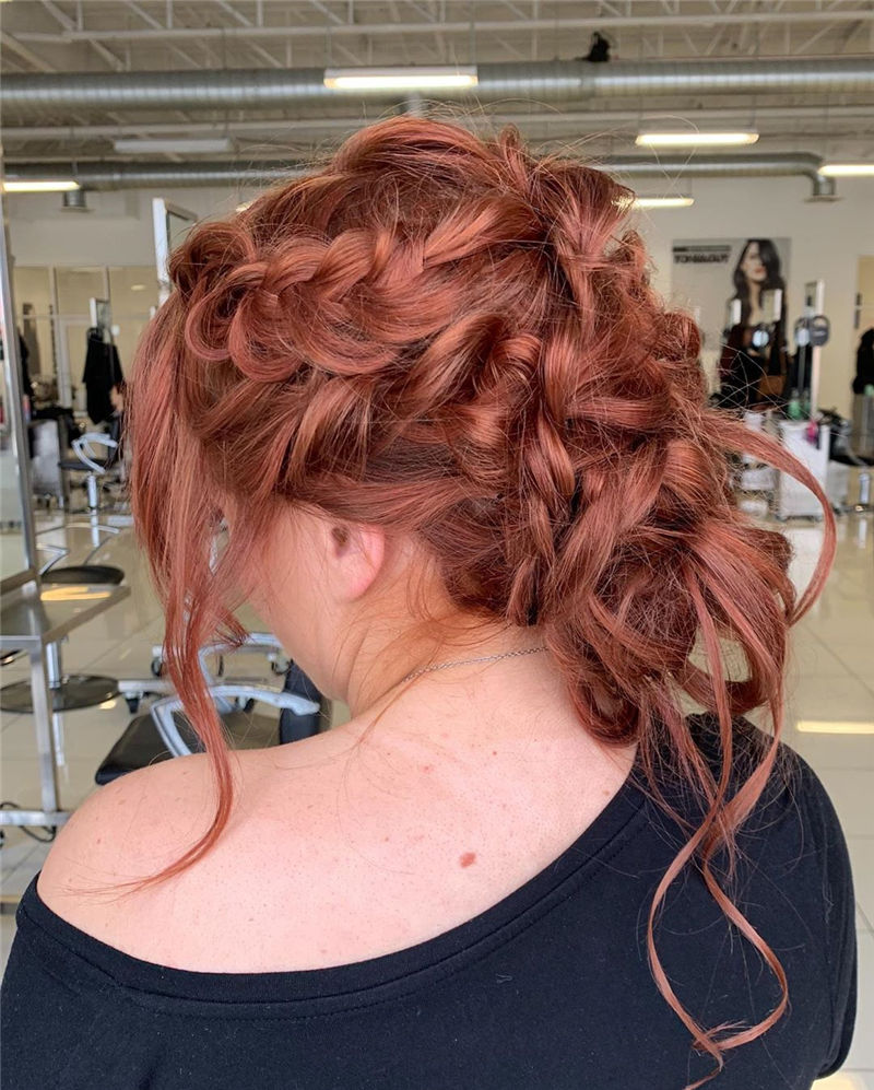 Popular Updo Braided Hairstyles to Look Stylish-14