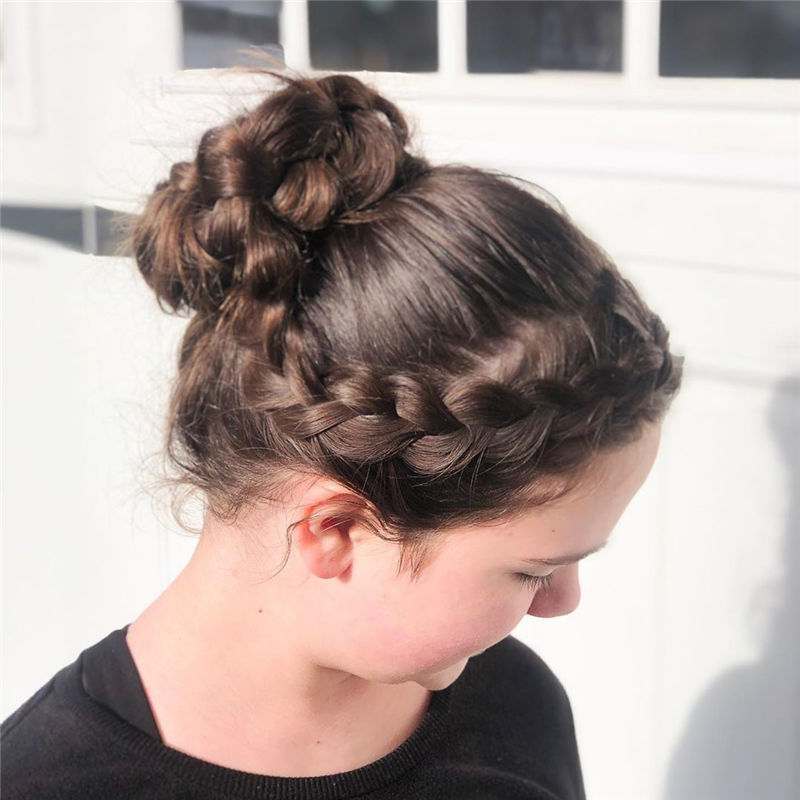 Popular Updo Braided Hairstyles to Look Stylish-17