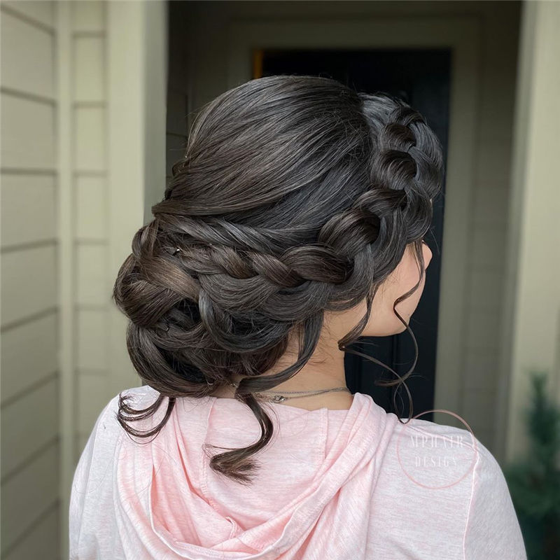 Popular Updo Braided Hairstyles to Look Stylish-24