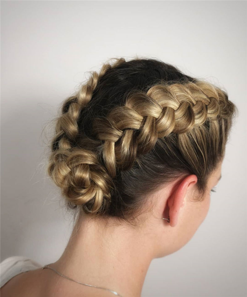 Popular Updo Braided Hairstyles to Look Stylish-26