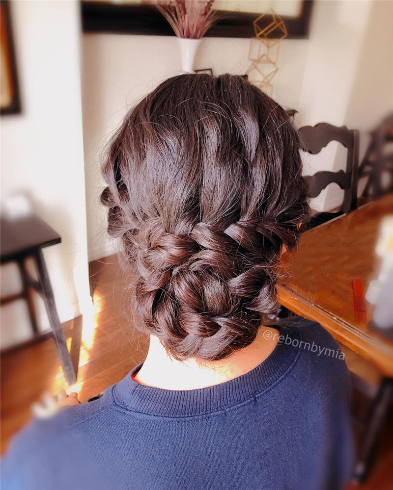 Popular Updo Braided Hairstyles to Look Stylish-27