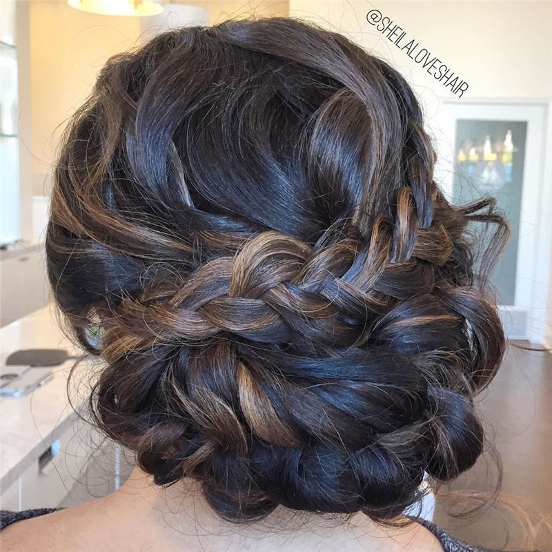 Popular Updo Braided Hairstyles to Look Stylish-30