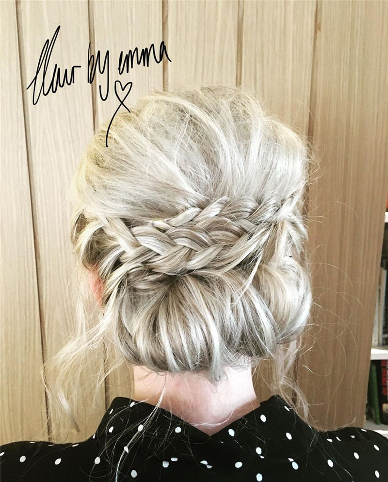 Popular Updo Braided Hairstyles to Look Stylish-32