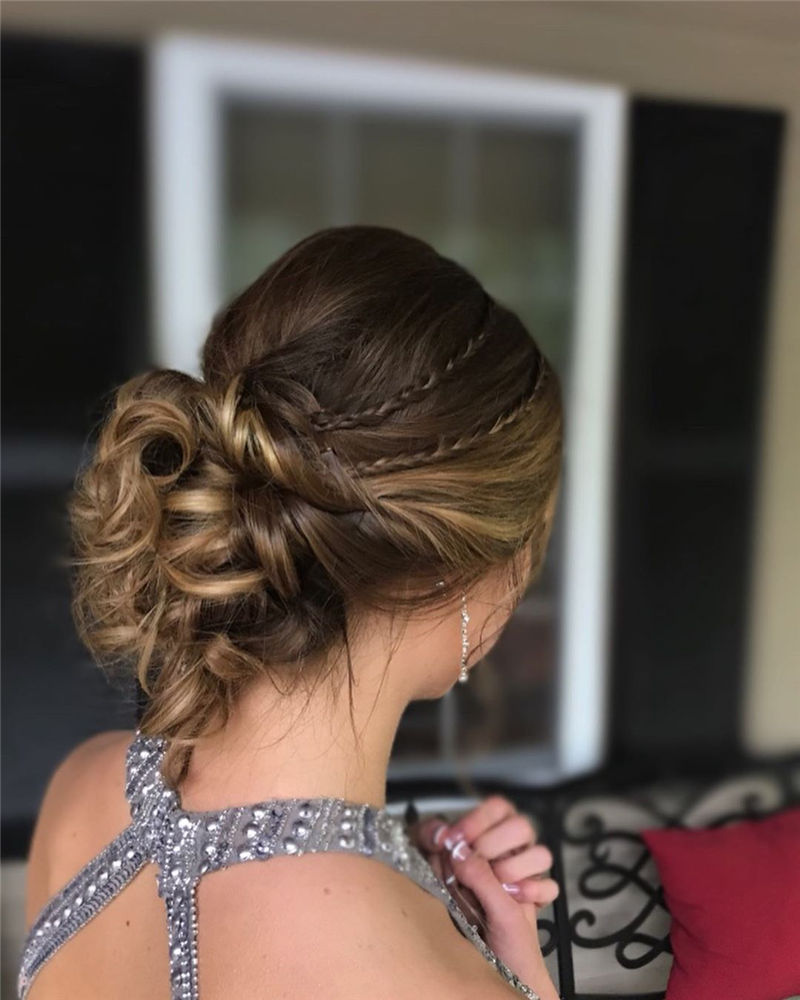 Popular Updo Braided Hairstyles to Look Stylish-38