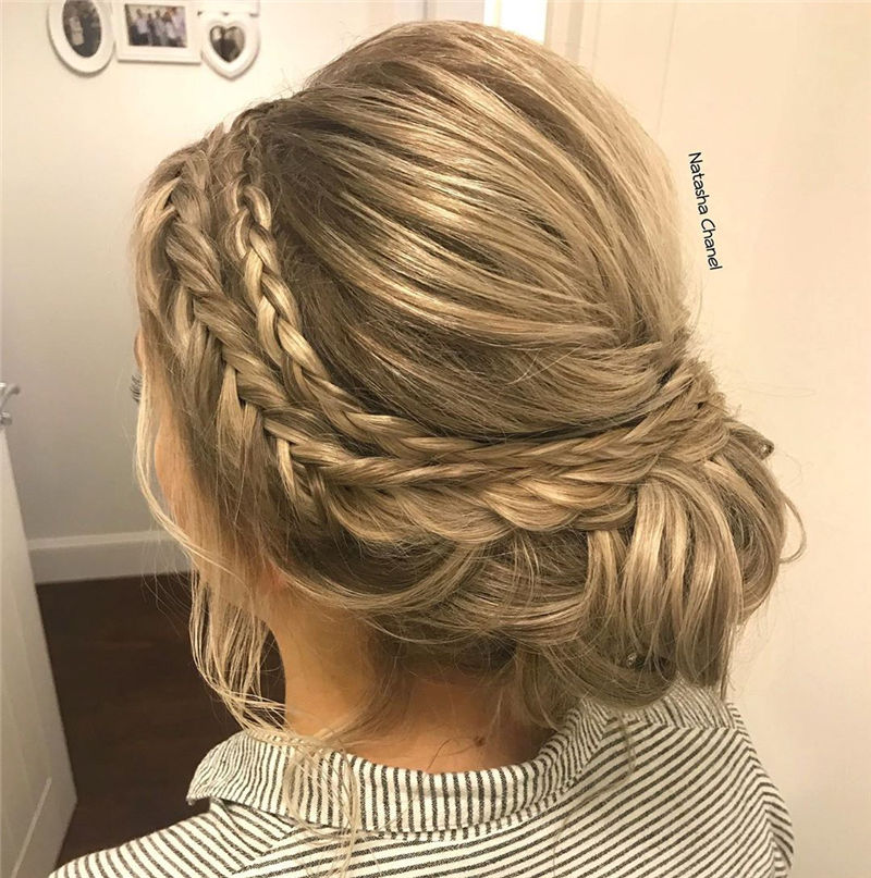 Popular Updo Braided Hairstyles to Look Stylish-39