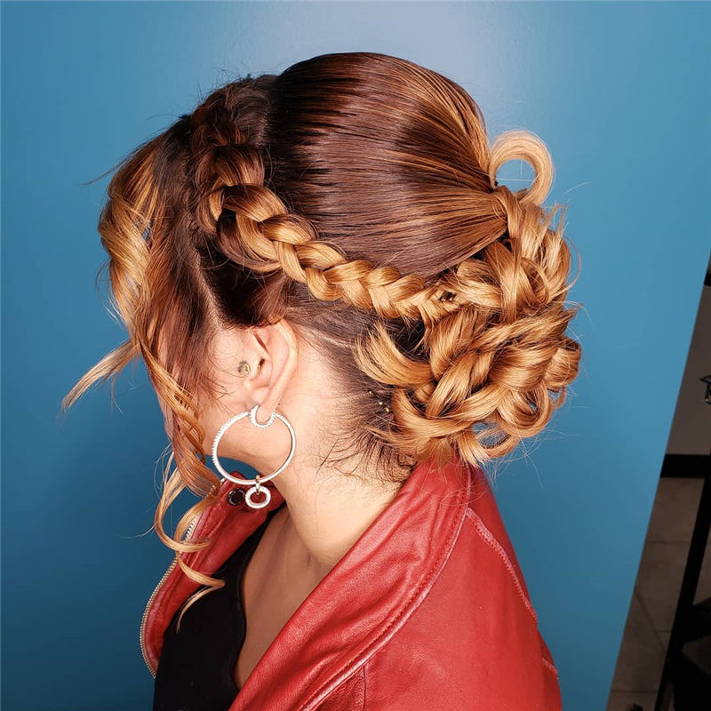 Popular Updo Braided Hairstyles to Look Stylish-41