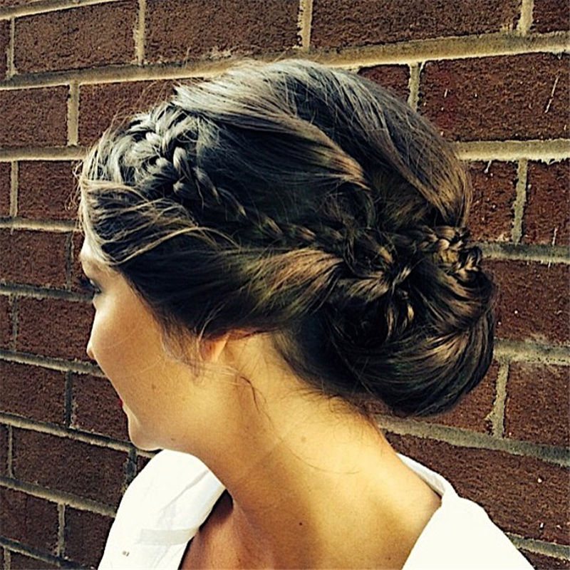 Popular Updo Braided Hairstyles to Look Stylish-42