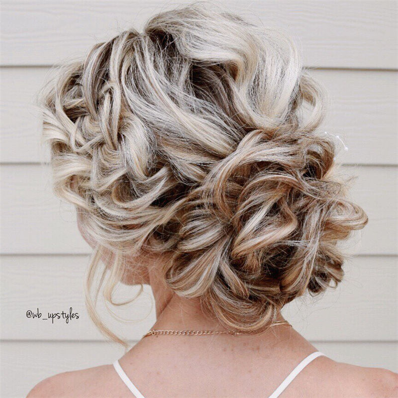 Popular Updo Braided Hairstyles to Look Stylish-47
