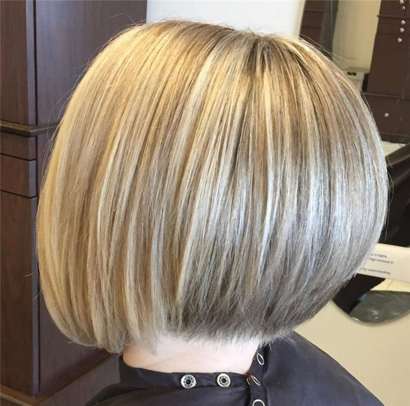 Pretty Stacked Bob Haircut For A New Look 01