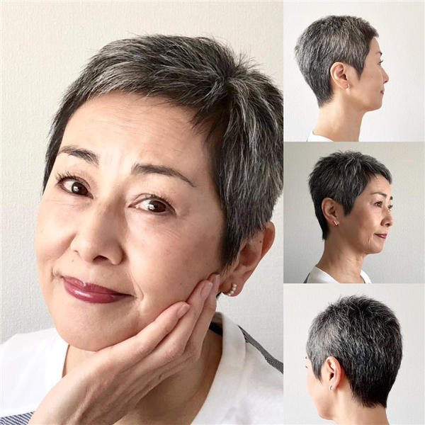 Best Short Gray Hair You'll Want to See 36