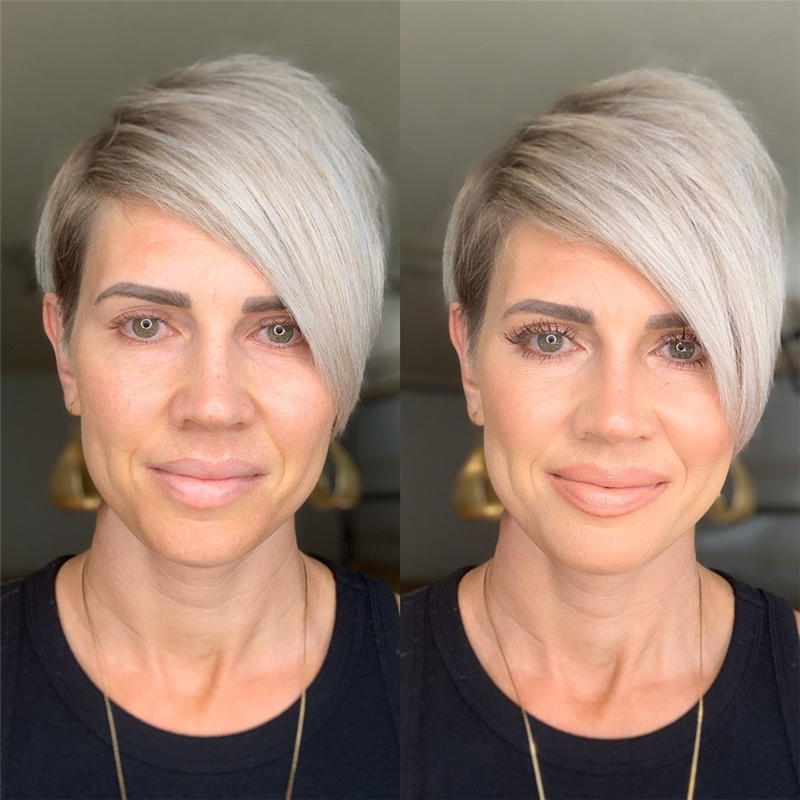 Classy and Simple Pixie Haircut for Older Ladies 08