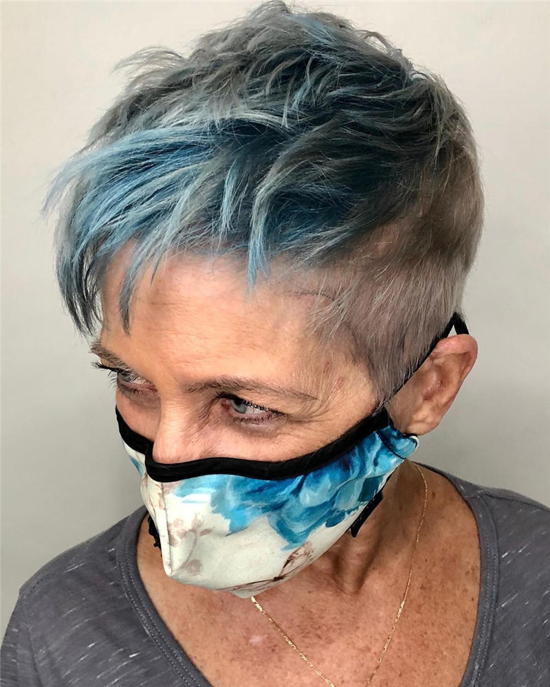 Classy and Simple Pixie Haircut for Older Ladies 13