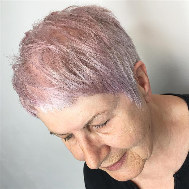 Classy and Simple Pixie Haircut for Older Ladies 14