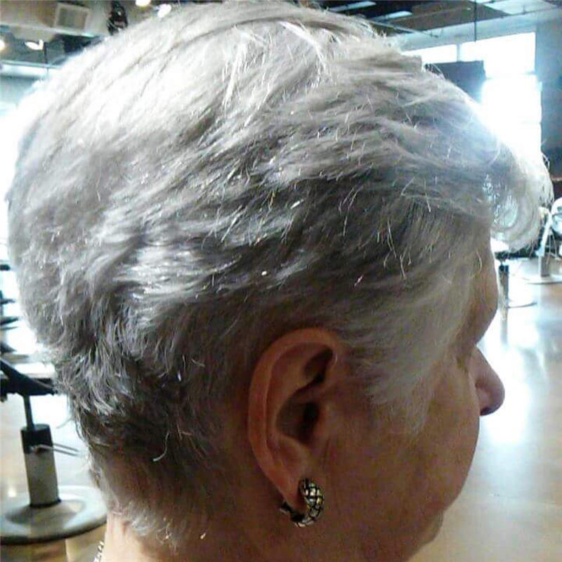 Classy and Simple Pixie Haircut for Older Ladies 20