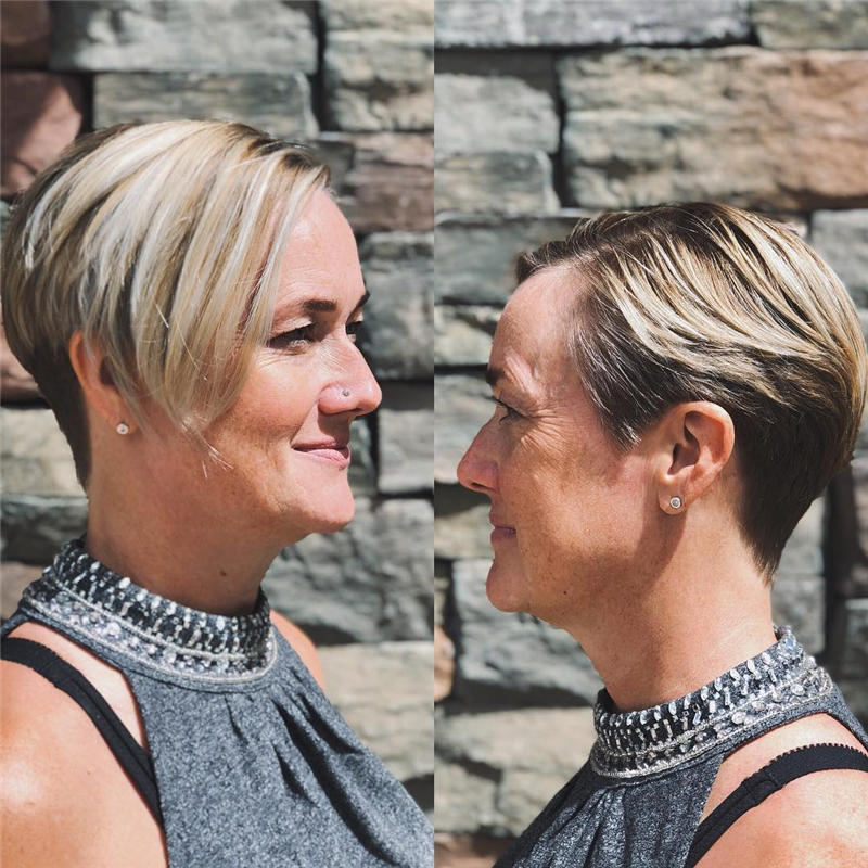 Classy and Simple Pixie Haircut for Older Ladies 22