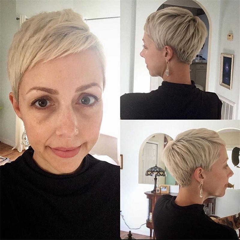 Classy and Simple Pixie Haircut for Older Ladies 26