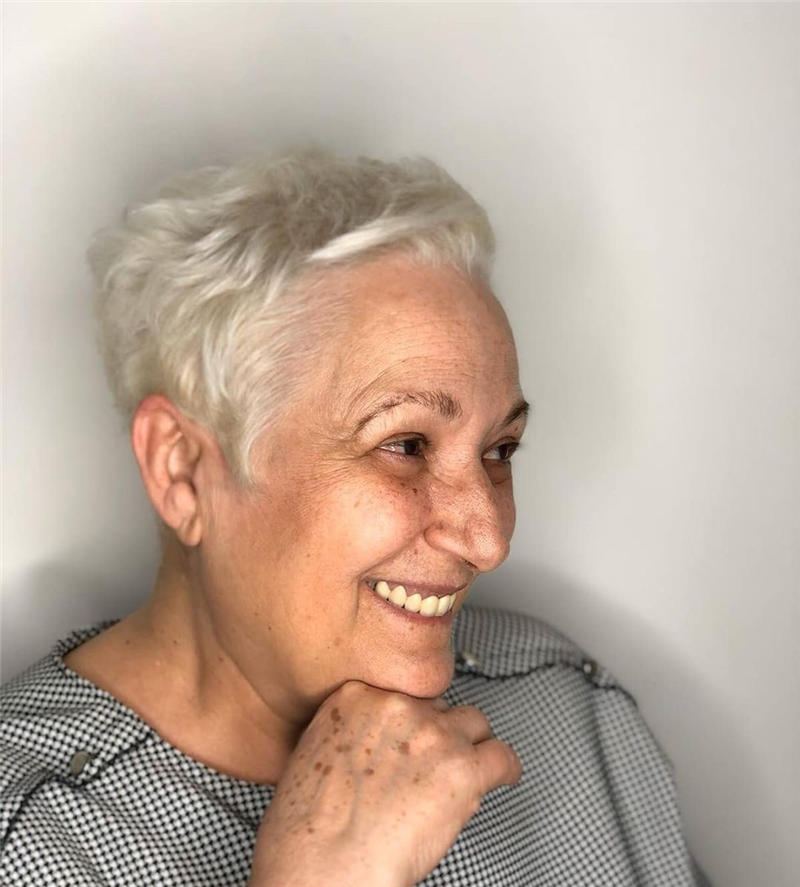 Classy and Simple Pixie Haircut for Older Ladies 28