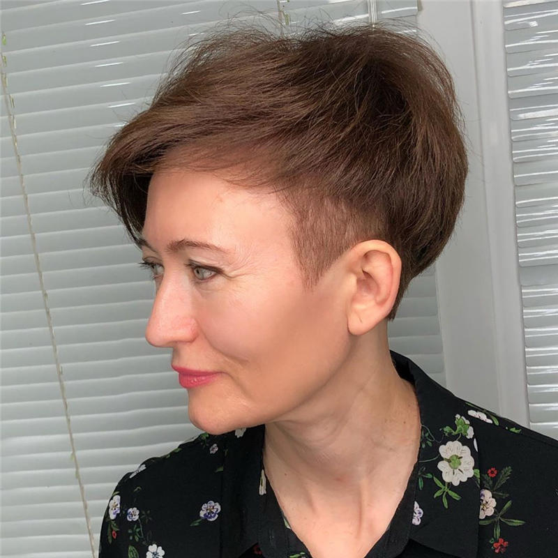 Classy and Simple Pixie Haircut for Older Ladies 45