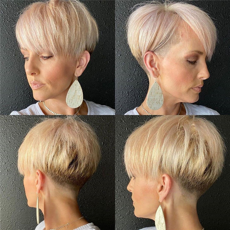 Cool Short Pixie Haircuts Front And Back View 01