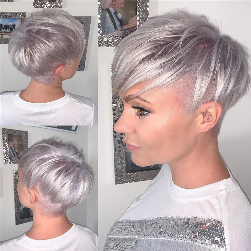 Cool Short Pixie Haircuts Front And Back View 02