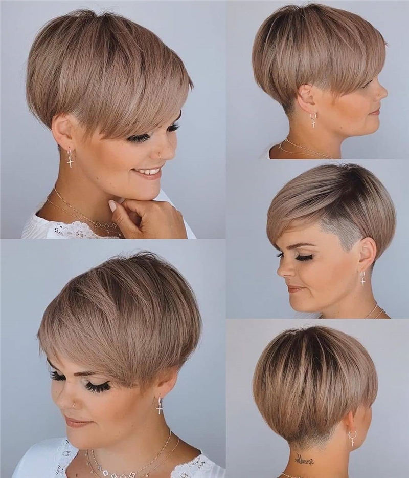 Cool Short Pixie Haircuts Front And Back View 04