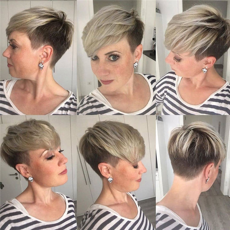 Cool Short Pixie Haircuts Front And Back View 07