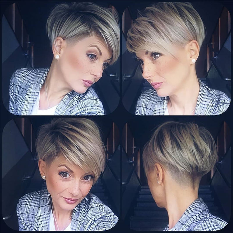 Cool Short Pixie Haircuts Front And Back View 10
