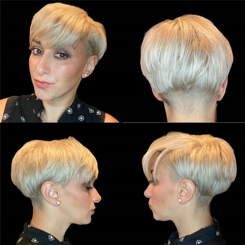 Cool Short Pixie Haircuts Front And Back View 11