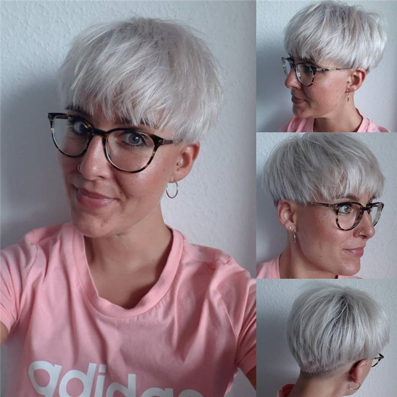 Cool Short Pixie Haircuts Front And Back View 12