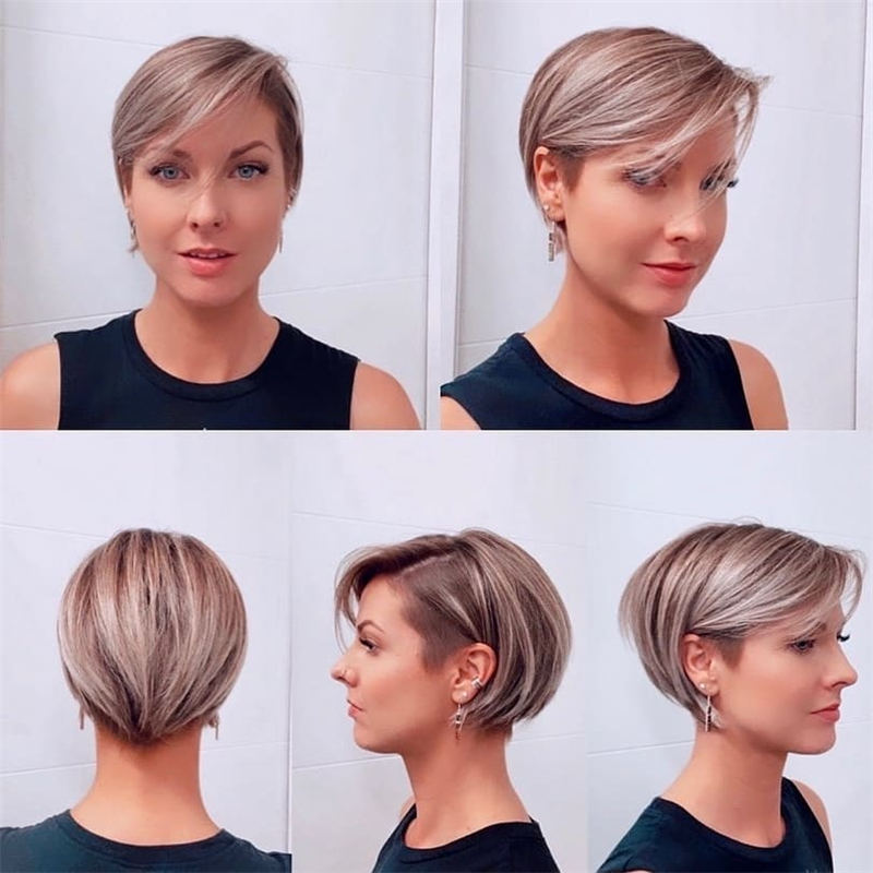 Cool Short Pixie Haircuts Front And Back View 13