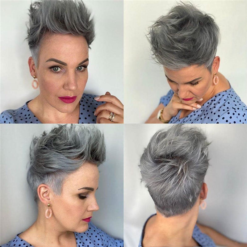 Cool Short Pixie Haircuts Front And Back View 14