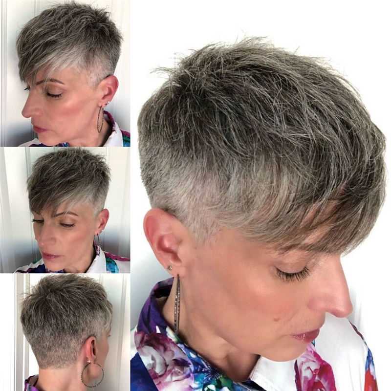 Cool Short Pixie Haircuts Front And Back View 16