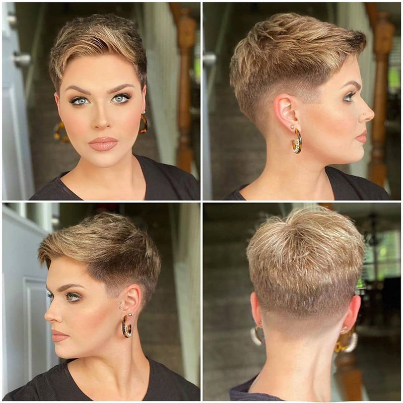 Cool Short Pixie Haircuts Front And Back View 17