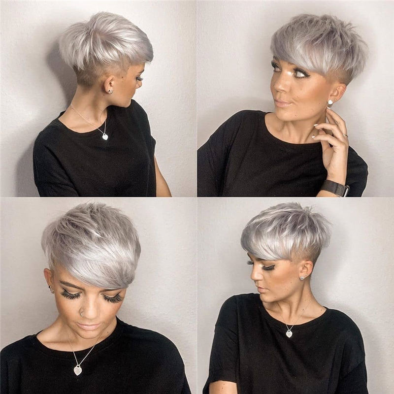 Cool Short Pixie Haircuts Front And Back View 19