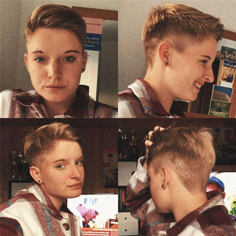 Cool Short Pixie Haircuts Front And Back View 22