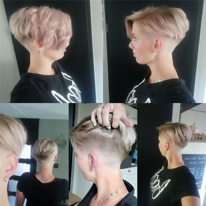 Cool Short Pixie Haircuts Front And Back View 23