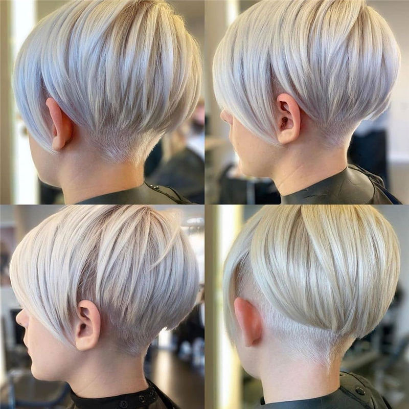 Cool Short Pixie Haircuts Front And Back View 24