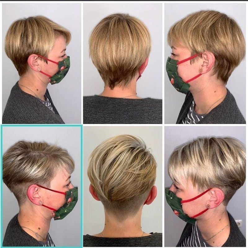 Cool Short Pixie Haircuts Front And Back View 27